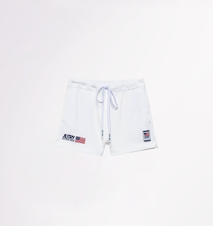 AUTRY: SHORTS IN COTONE BIANCO