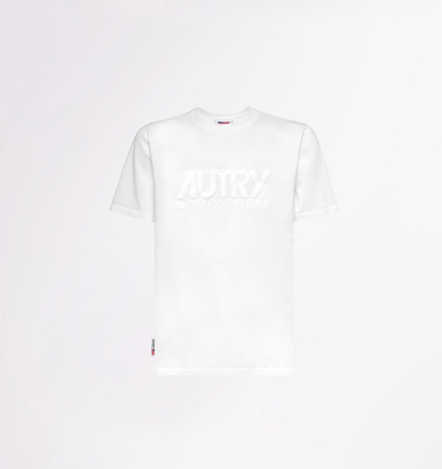 AUTRY: CREW NECK T-SHIRT WITH COLOR MATCHING PRINT