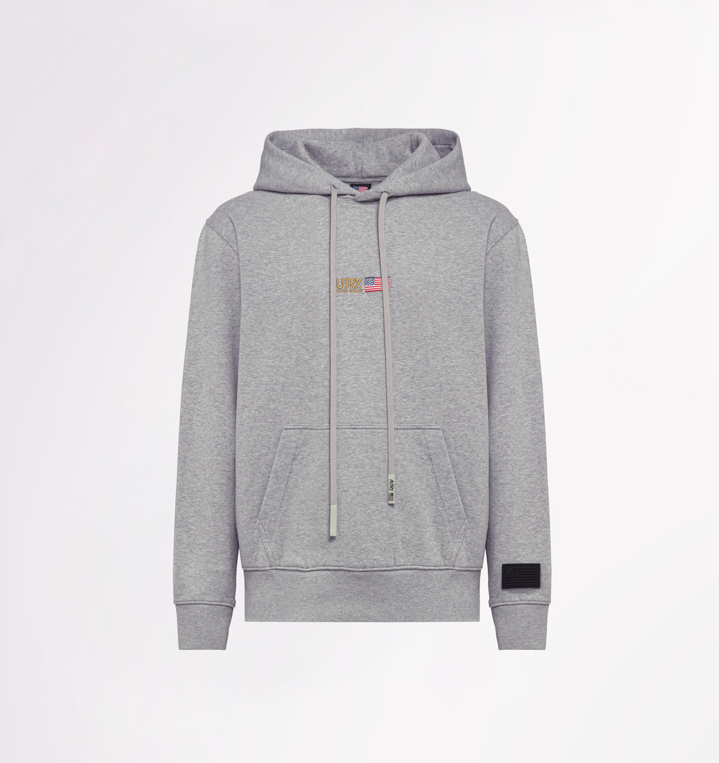 AUTRY: GOLD CLUB SWEATSHIRT WITH HOOD AND PATCH