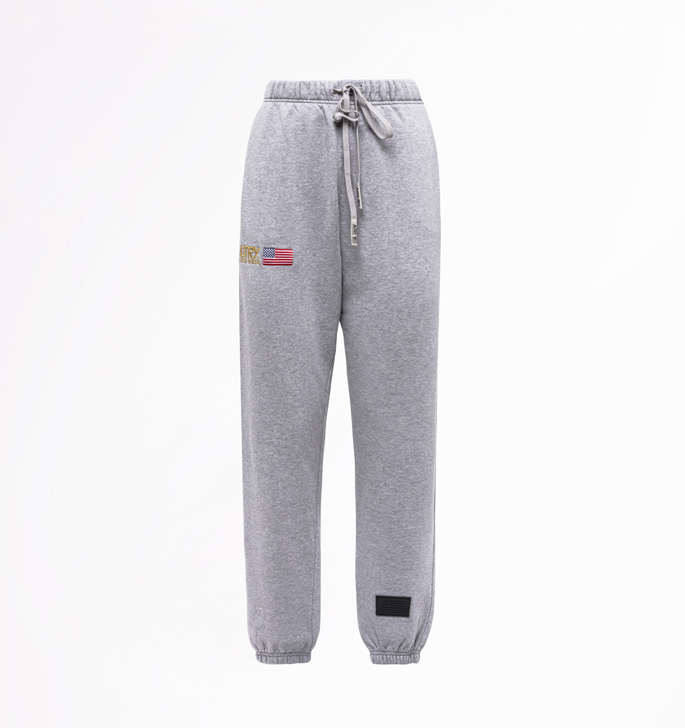 AUTRY: FLEECE PANTS WITH EMBROIDERY LOGO
