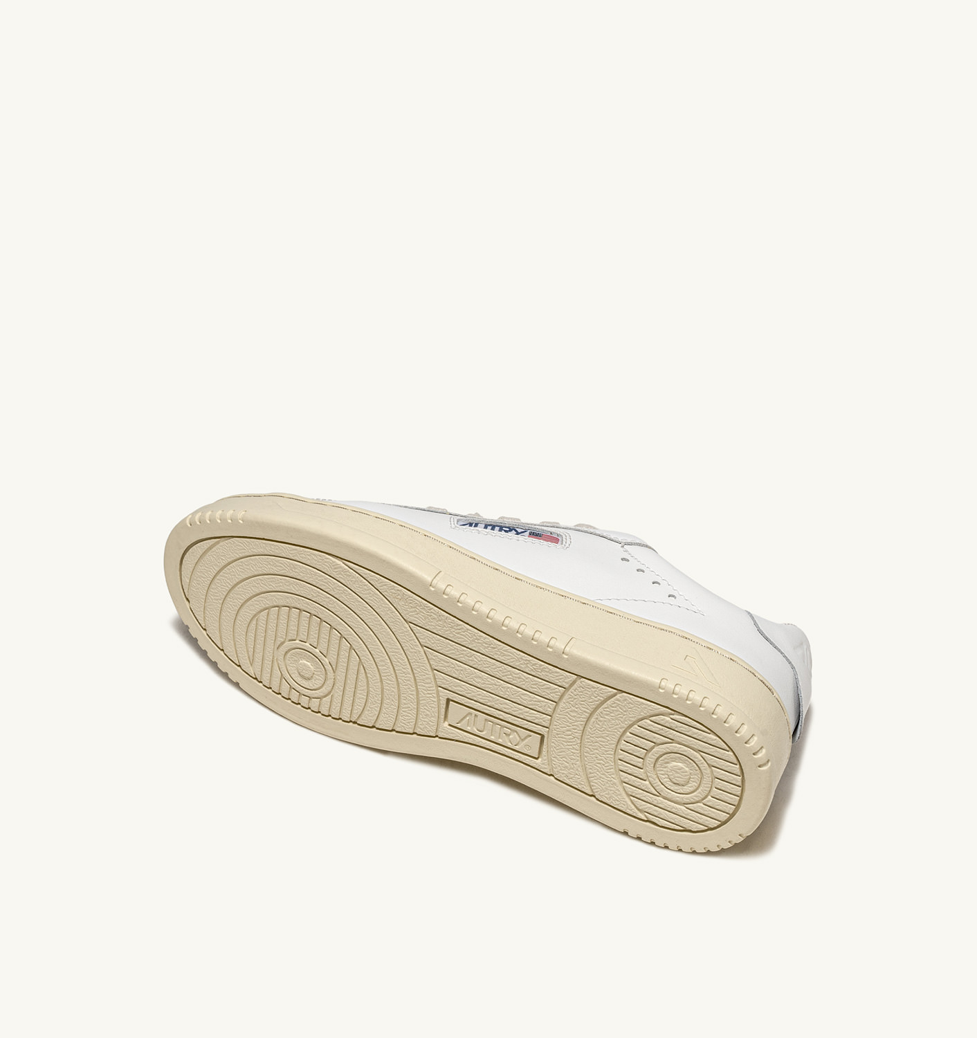 AUTRY: DALLAS LOW SNEAKERS IN LEATHER COLOR WHITE