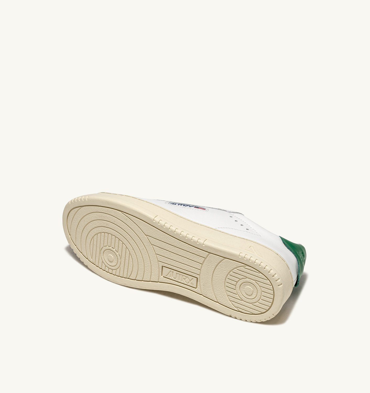 AUTRY: DALLAS LOW SNEAKERS IN LEATHER COLOR WHITE GREEN