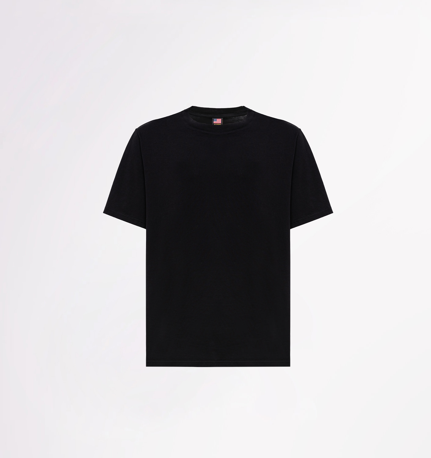 AUTRY: CREW NECK T-SHIRT WITH LOGO PRINT AT BACK